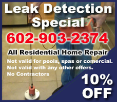 Leak Detection In Phoenix Arizona Scottsdale And More